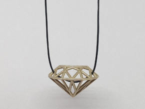 Diamond in Polished Bronzed Silver Steel
