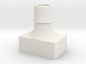 Fan Adapter Square in White Natural Versatile Plastic