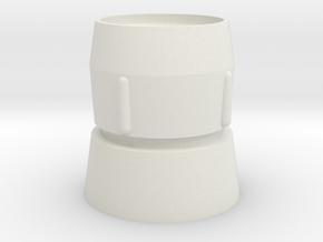 Mic Tip in White Natural Versatile Plastic