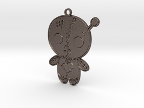 Voodoo Doll Pendant in Polished Bronzed Silver Steel