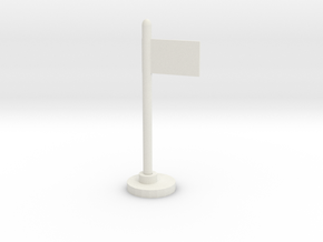 Flag Stand in White Natural Versatile Plastic