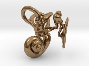 Human Ear Anatomy  in Natural Brass