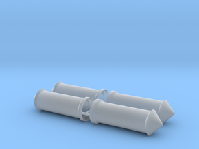 Litfaßsäule 4er Set 1:120 TT in Smooth Fine Detail Plastic