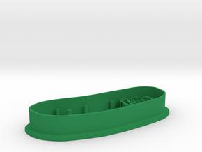 Pickle rick cookie cutter in Green Processed Versatile Plastic