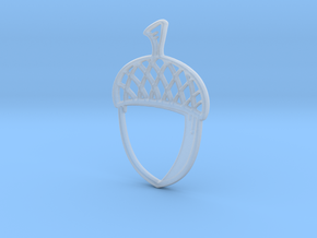 Acorn Pendant in Smooth Fine Detail Plastic
