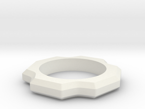 Beast Ring Spinner in White Natural Versatile Plastic