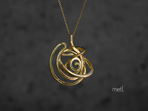 Stay Lost : Be Found - Pendant in Polished Brass