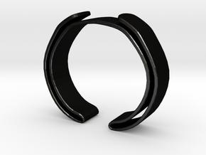 Double Fold Cuff in Matte Black Steel
