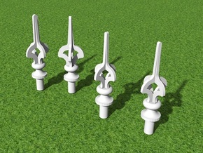 S&D L&SW Railway Cruciform Signal Post Finials x10 in Smooth Fine Detail Plastic