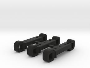 Rear Suspension Mount - R +2mm in Black Strong & Flexible
