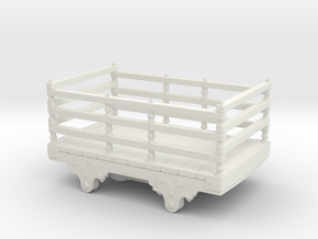 5.5mm scale Festiniog wooden slate wagon  in White Natural Versatile Plastic