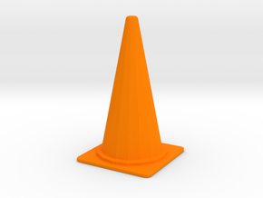 1/24 Large Traffic Cone (70 cm Type) in Orange Processed Versatile Plastic