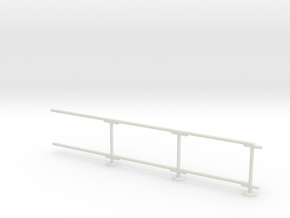 6' Chain-link Barrier Fence    3-Bay (HO) in White Natural Versatile Plastic: 1:87 - HO