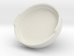 The Fog Light Cover(20mm) in White Natural Versatile Plastic