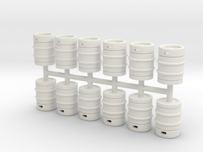 Beer Barrel 01. 1:43 Scale  in White Strong & Flexible