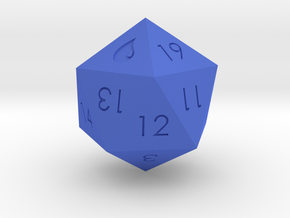 D20 Blue Mana Symbol (MTG) in Blue Processed Versatile Plastic: Medium