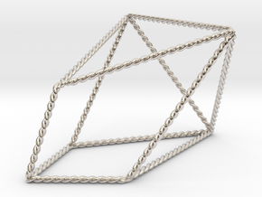 Twisted Chestahedron in Rhodium Plated Brass