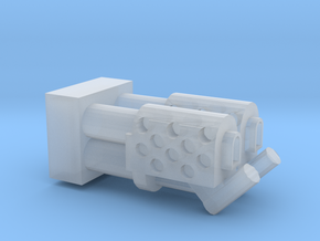 Dual  Heavy Flamethrower turret nozzle in Smooth Fine Detail Plastic