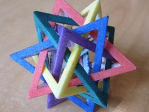 Five Tetrahedra Small in Purple Strong & Flexible Polished