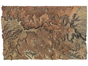 """Canyonlands National Park Map: 9""""x14"""" in Full Color Sandstone"""