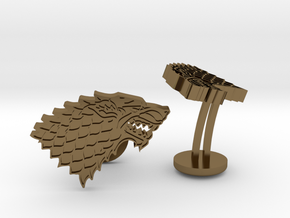 Game of Thrones House of Stark Cufflinks in Polished Bronze
