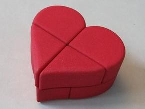 Heart 2x2x2 Puzzle in Red Strong & Flexible Polished