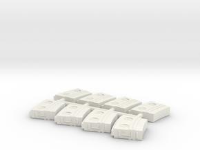 8 X 1/35 IJN Type 96 25mm magazine in White Natural Versatile Plastic