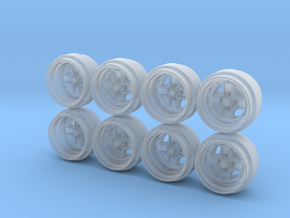 Work Equip 40 Hot Wheels Rims in Smoothest Fine Detail Plastic