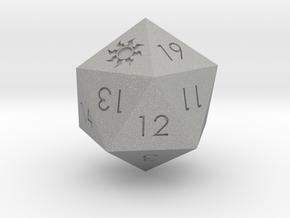 D20 White Mana Symbol (MTG)  in Aluminum: Extra Small