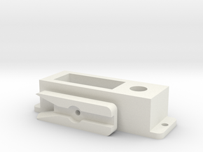 Servo switch housing in White Natural Versatile Plastic