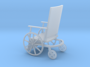 1:72 Vintage Wheelchair in Smooth Fine Detail Plastic