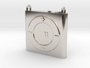 Pendant iPod Shuffle in Rhodium Plated Brass