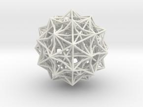 Grand 600-cell in White Natural Versatile Plastic