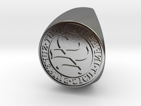 Custom Signet Ring 61 in Polished Silver