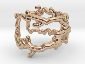 Root ring (US sizes 1.5 – 5.5) in 14k Rose Gold Plated Brass: 3.5 / 45.25
