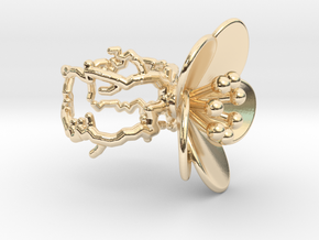 Flower ring (US sizes 1.5 – 5.5) in 14K Gold: 3.5 / 45.25