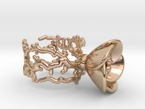 Half open flower ring (US sizes 1.5 – 5.5) in 14k Rose Gold Plated Brass: 5.5 / 50.25