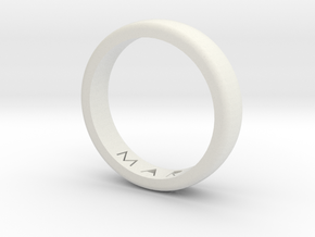 Ring in White Natural Versatile Plastic: Medium