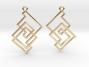 Cobweb Earrings in 14k Gold Plated Brass