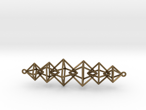 Interlocking Octahedron Necklace in Natural Bronze (Interlocking Parts)