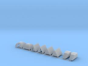Zelte 8er Set ABC - 1:120 TT in Smooth Fine Detail Plastic