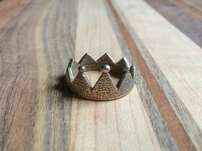Crown Ring in Polished Bronzed Silver Steel: 7 / 54