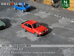 Ford Escort XR3i (N 1:160) in Smooth Fine Detail Plastic