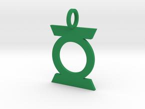 Green Lantern Pendant Ver. 2 in Green Processed Versatile Plastic