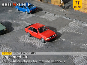 Ford Escort XR3i (TT 1:120) in Smooth Fine Detail Plastic