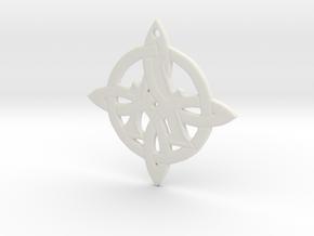 Celtic Initial A in White Natural Versatile Plastic
