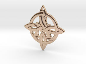 Celtic Initial A in 14k Rose Gold Plated Brass