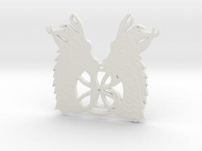 Celtic Initial B in White Natural Versatile Plastic