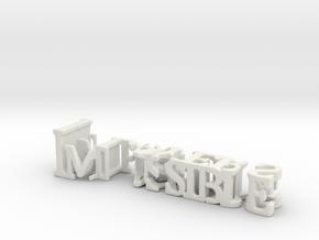 3dWordFlip: Impossible/Players in White Natural Versatile Plastic
