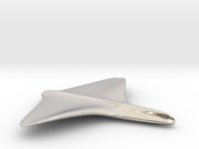 Sea Gull Glider in Rhodium Plated Brass